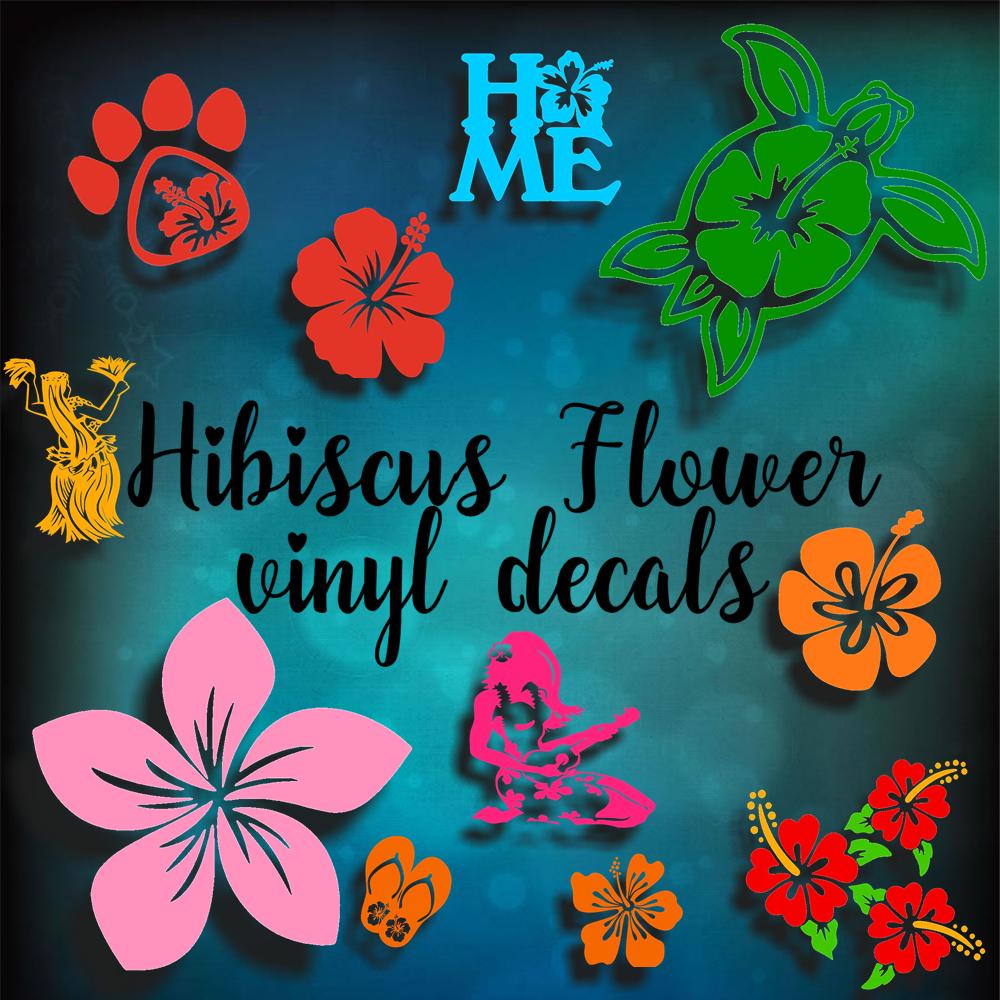 HIBISCUS FLOWER VINYL DECALS