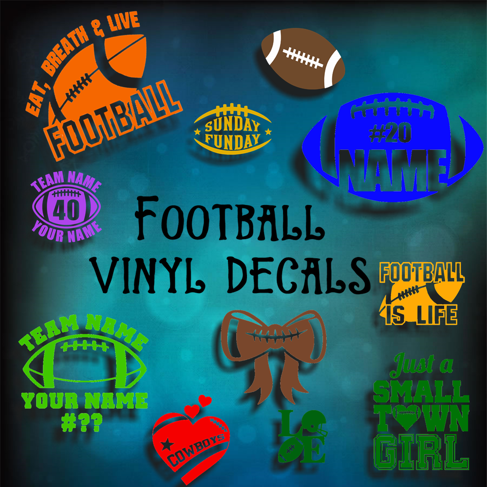 FOOTBALL VINYL DECALS