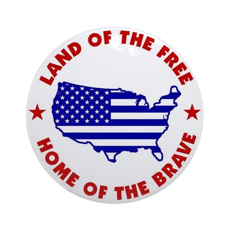 land_of_the_free1_ornament_round
