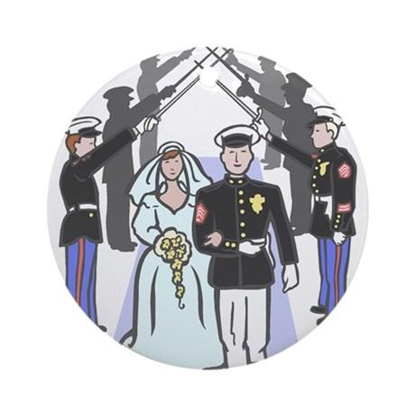 military_wedding_ornament_round