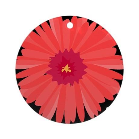 red_flower102_ornament_round