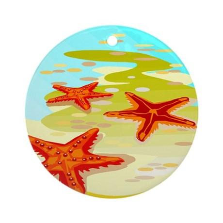 starfish_2_ornament_round